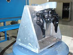 welded vibration testing fixture